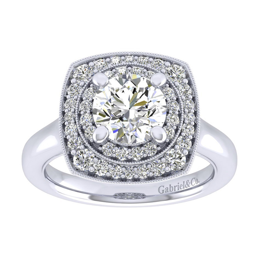 Gabriel 14 Karat Perfect Match Engagement Ring ER009C6AFW44JJ Alternative View 4