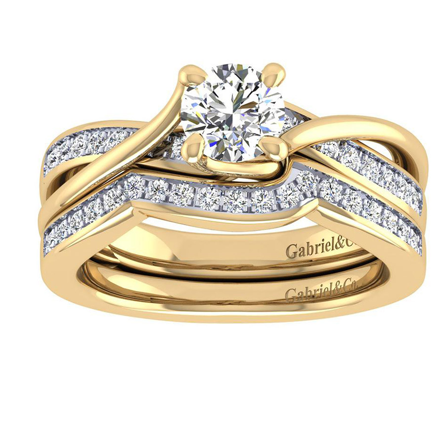 Gabriel 14 Karat Contemporary Engagement Ring ER6360Y44JJ Alternative View 3
