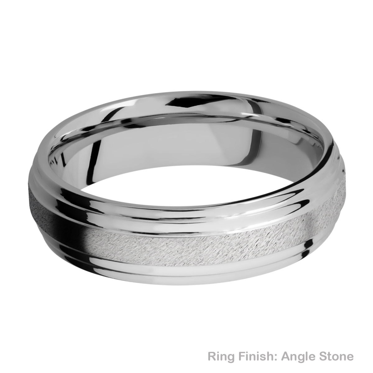 Lashbrook 6F2S Titanium Wedding Ring or Band Alternative View 9