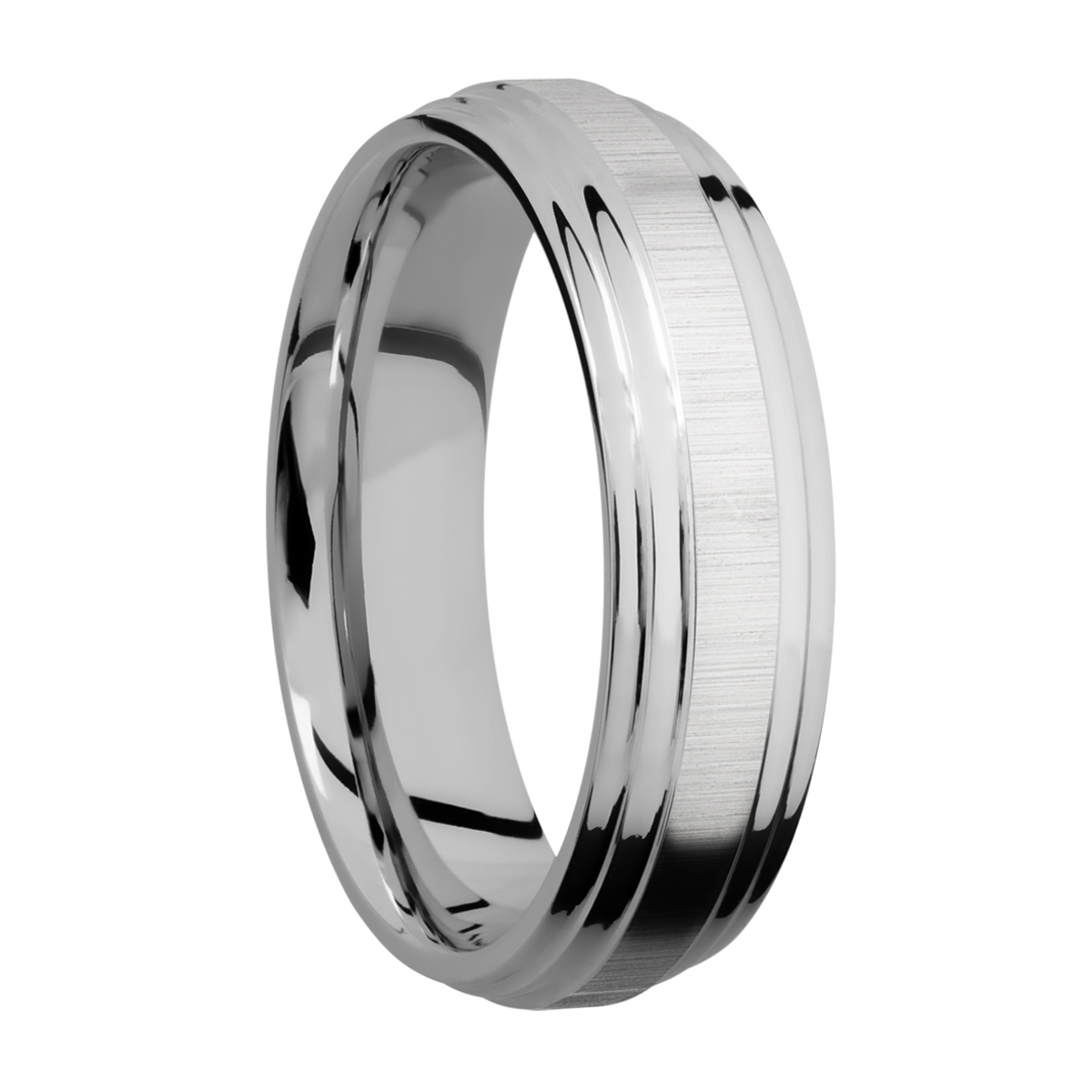 Lashbrook 6F2S Titanium Wedding Ring or Band Alternative View 1