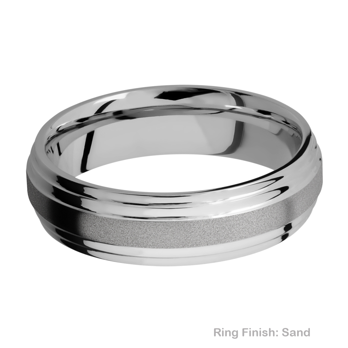 Lashbrook 6F2S Titanium Wedding Ring or Band Alternative View 5