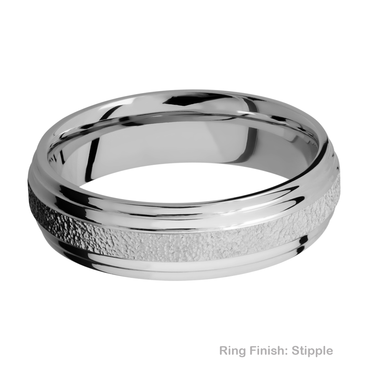 Lashbrook 6F2S Titanium Wedding Ring or Band Alternative View 16