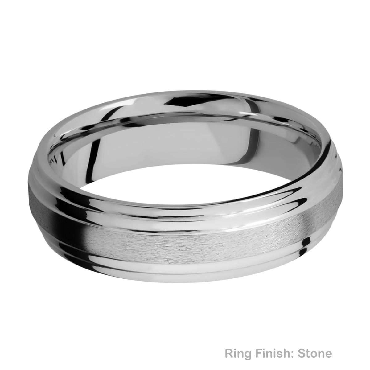 Lashbrook 6F2S Titanium Wedding Ring or Band Alternative View 7