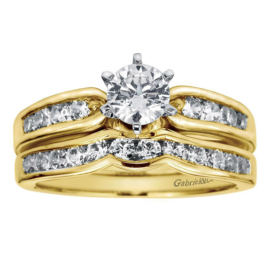 Gabriel 14 Karat Contemporary Engagement Ring ER2294M44JJ Alternative View 3