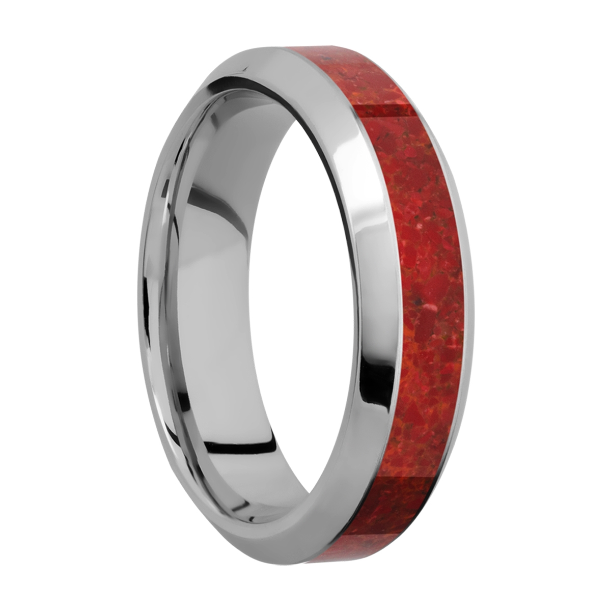 Lashbrook 6HB13/MOSAIC Titanium Wedding Ring or Band Alternative View 1