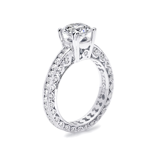 Tacori Platinum Crescent Engagement Ring HT2326SMSOL Alternative View 1