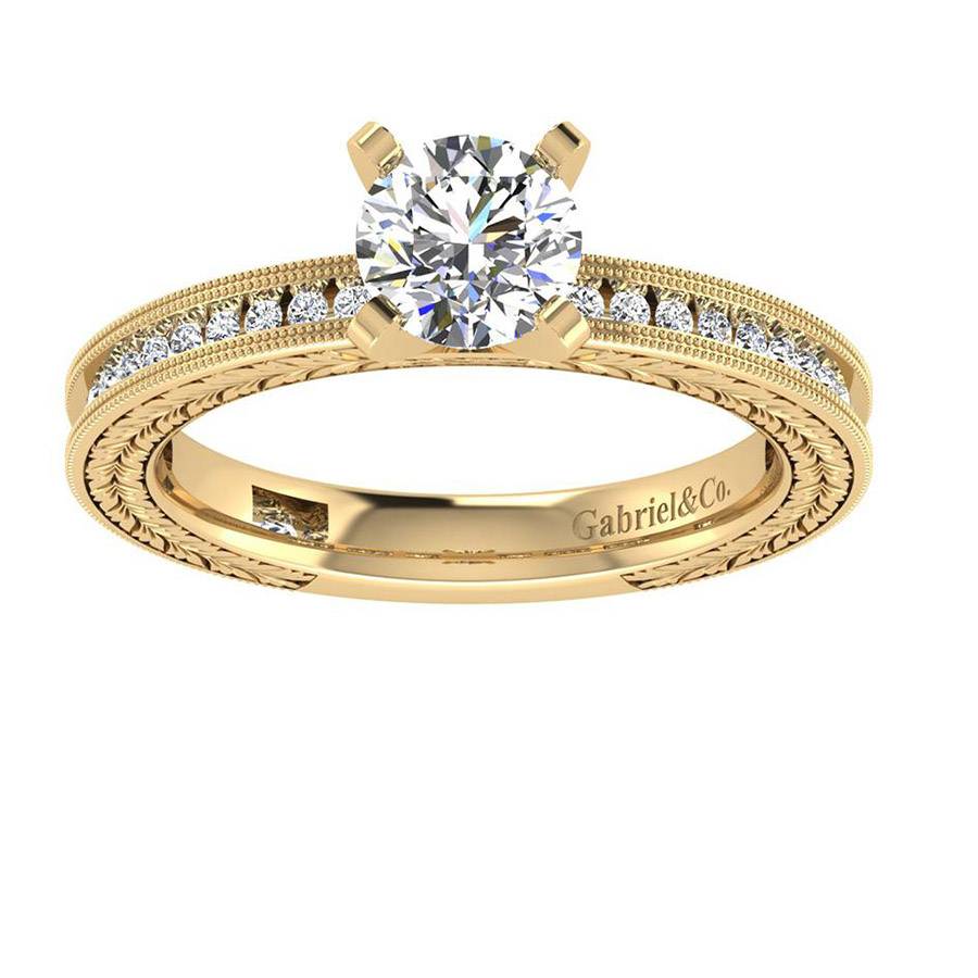 Gabriel 14 Karat Victorian Engagement Ring ER5669M44JJ Alternative View 4