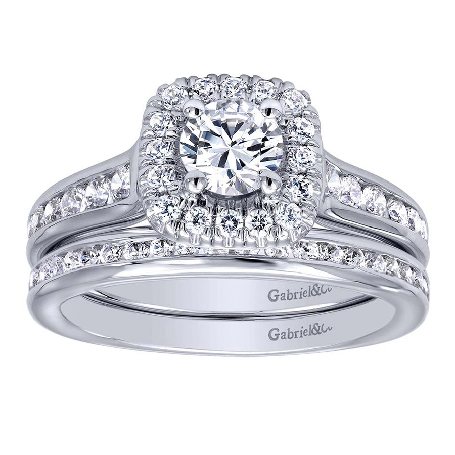 Gabriel 14 Karat Contemporary Engagement Ring ER910136W44JJ Alternative View 3