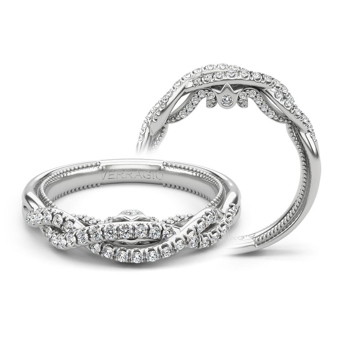 Verragio Insignia-7099W 14 Karat Wedding Ring / Band