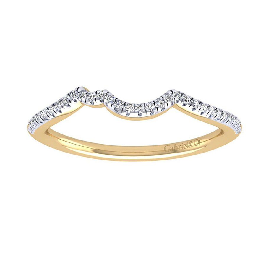 Gabriel 14 Karat Contemporary Wedding Band WB7801Y44JJ Alternative View 4