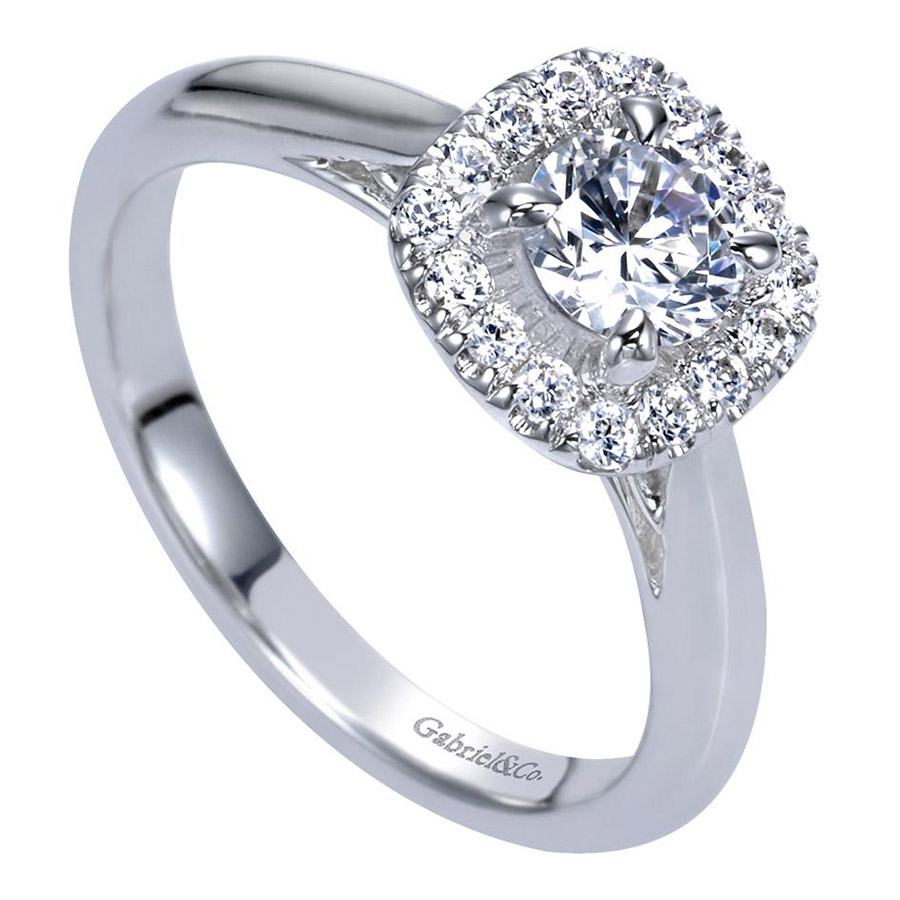 Gabriel 14 Karat Contemporary Engagement Ring ER98706W44JJ Alternative View 2