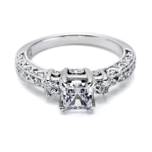 Tacori Crescent Platinum Engagement Ring HT2258