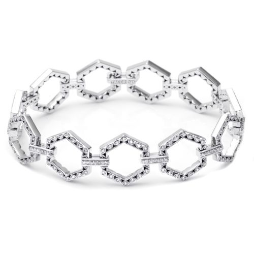 Tacori Diamond Bracelet Platinum Fine Jewelry FB592
