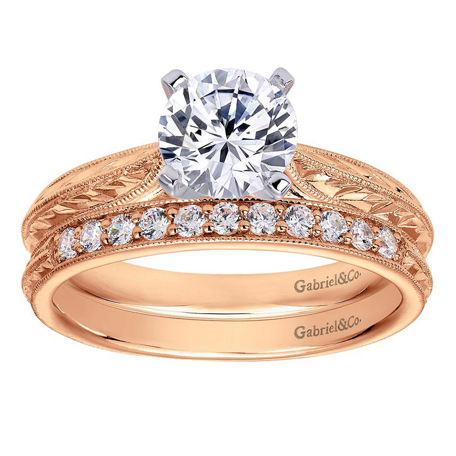 Gabriel 14 Karat Victorian Engagement Ring ER6707T4JJJ Alternative View 3