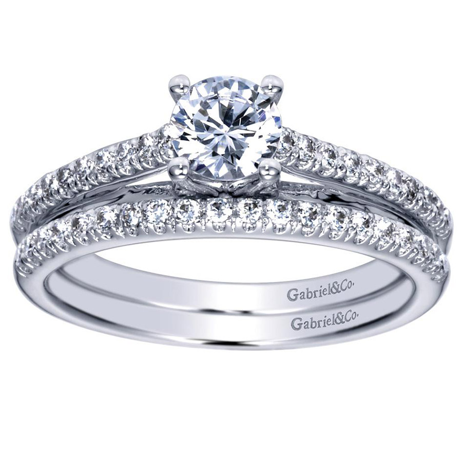 Gabriel 14 Karat Contemporary Engagement Ring ER98556W44JJ Alternative View 3