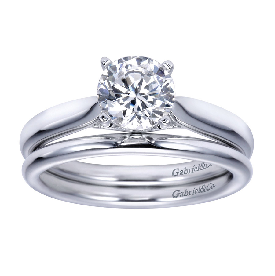 Gabriel Platinum Contemporary Engagement Ring ER7894PTJJJ Alternative View 3