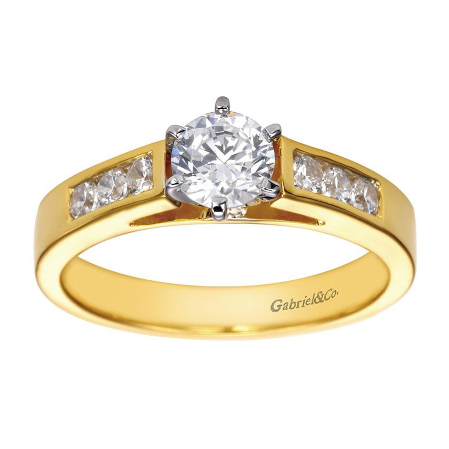 Gabriel 14 Karat Contemporary Engagement Ring ER2315M43JJ Alternative View 4