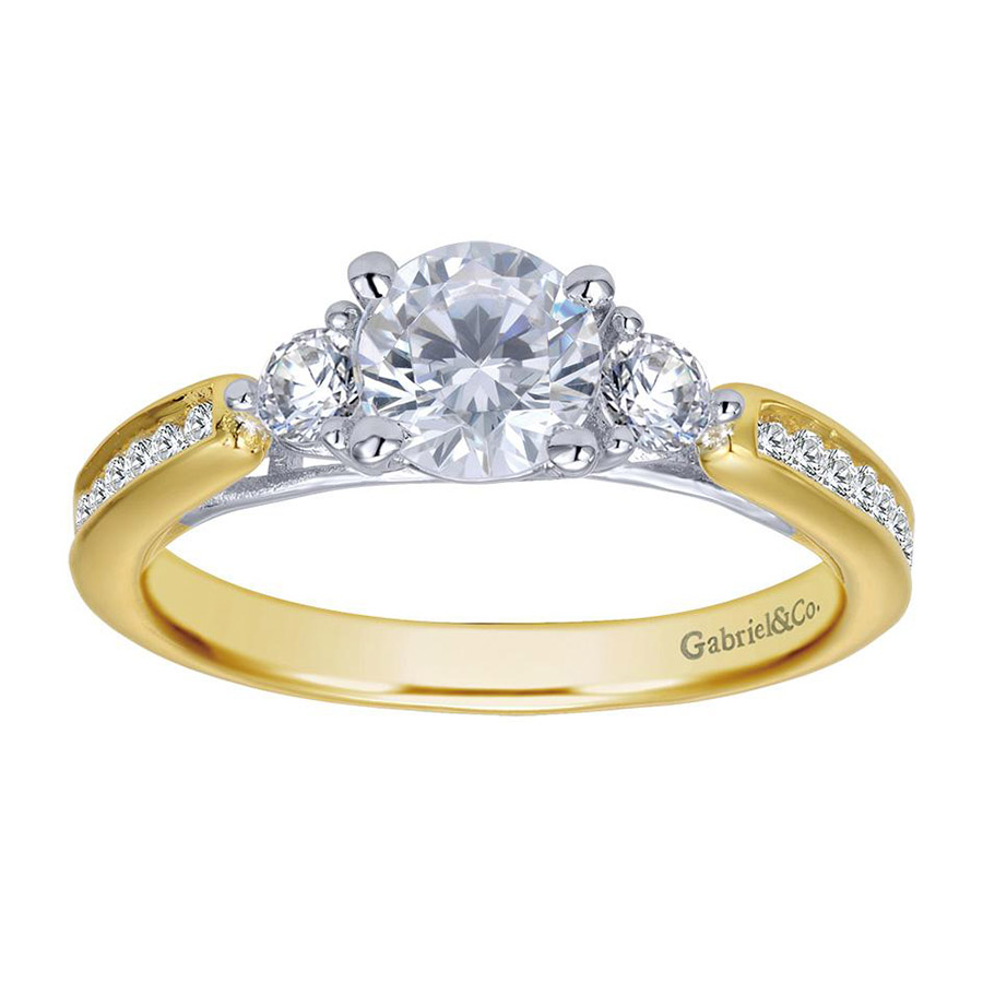 Gabriel 14 Karat Contemporary Engagement Ring ER7449M44JJ Alternative View 3