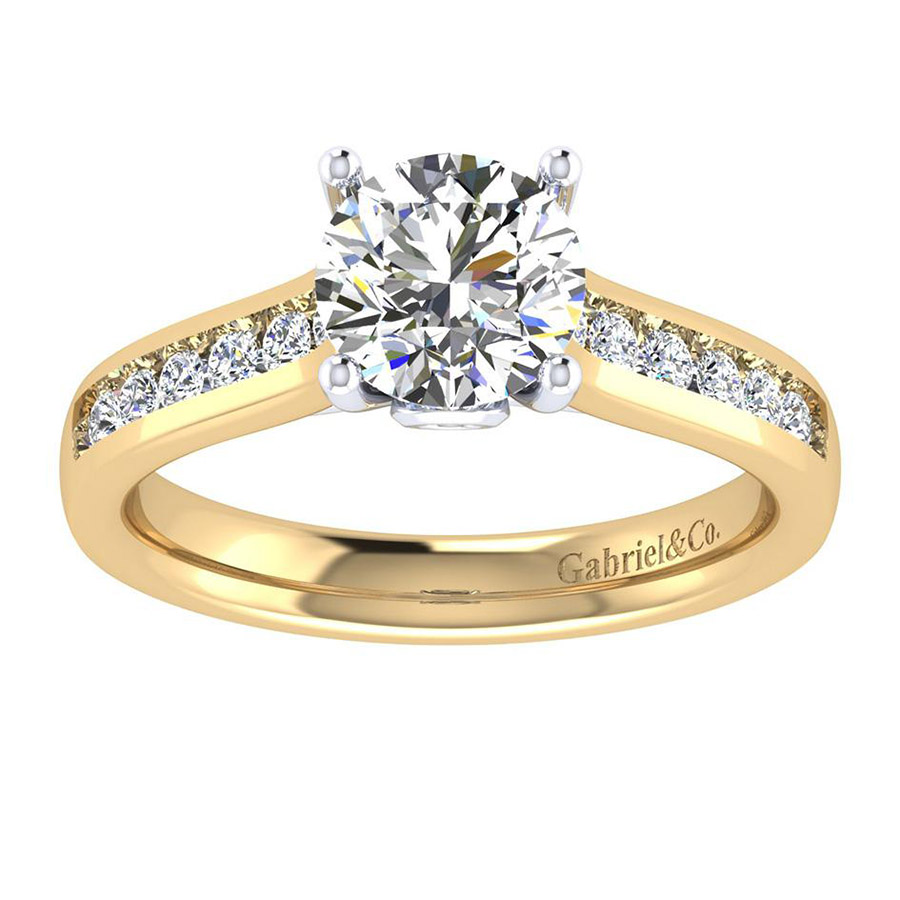 Gabriel 14 Karat Contemporary Engagement Ring ER8191M44JJ Alternative View 4