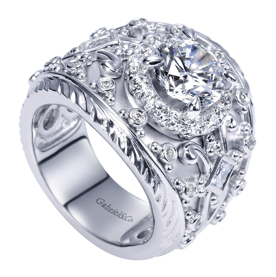 Gabriel 14 Karat Victorian Engagement Ring ER8458W83JJ Alternative View 2