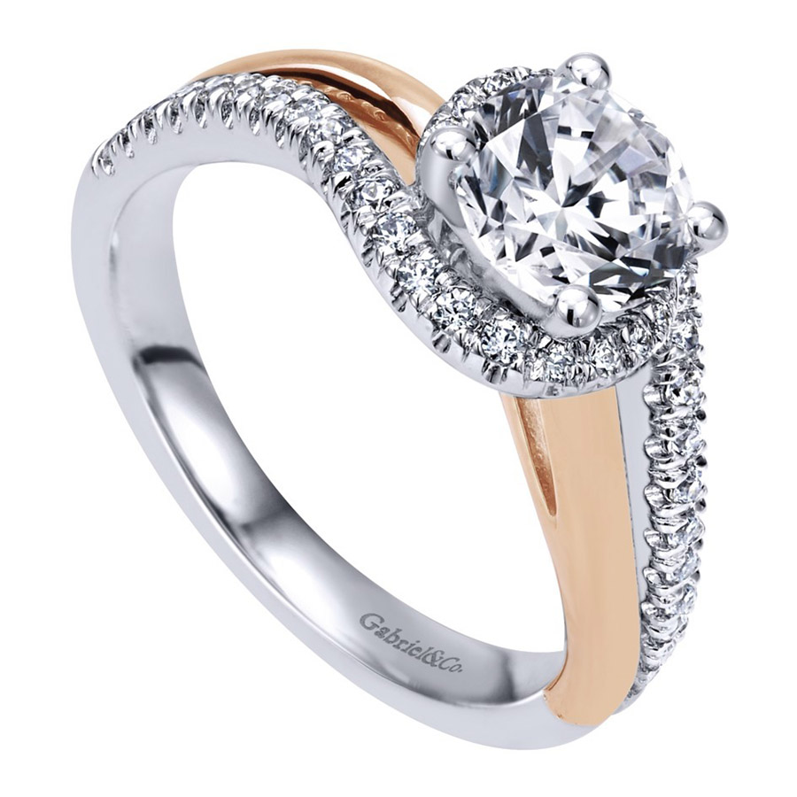 Gabriel 14 Karat Contemporary Engagement Ring ER10308T44JJ Alternative View 2