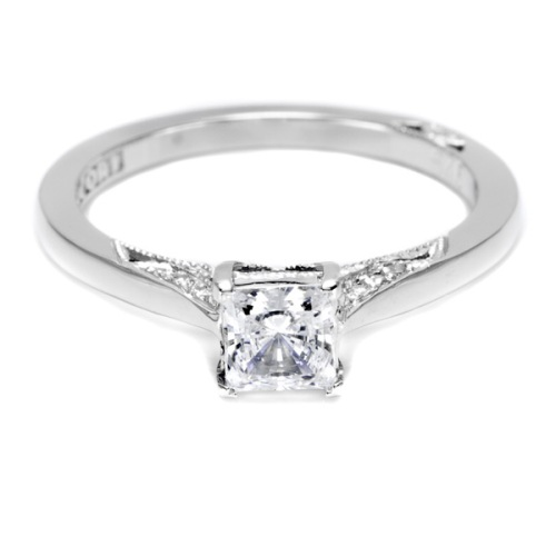 Tacori Dantela Platinum Engagement Ring 2638PR45