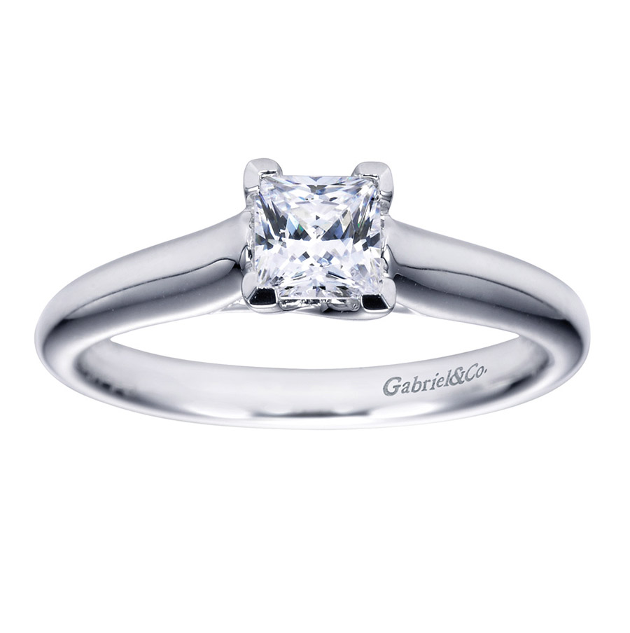Gabriel Platinum Contemporary Engagement Ring ER6604PTJJJ Alternative View 4