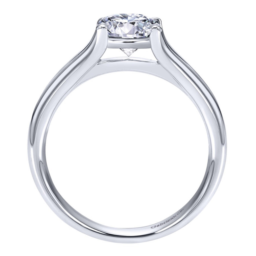 Gabriel Platinum Contemporary Engagement Ring ER7516PTJJJ Alternative View 1