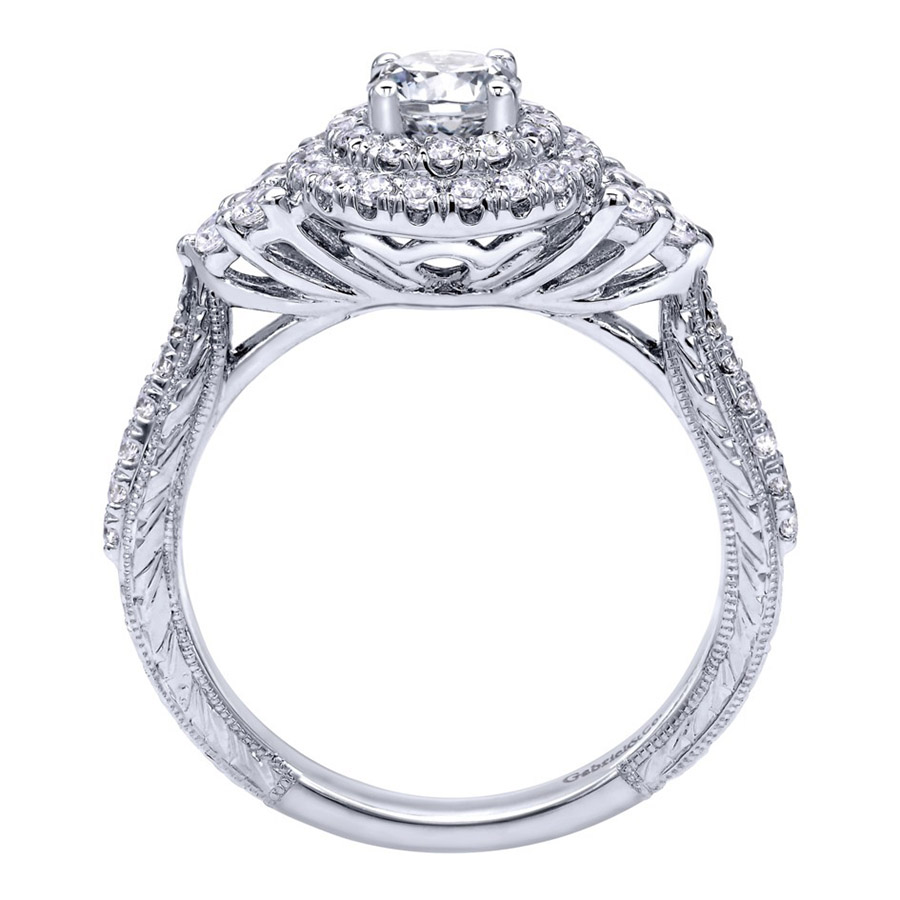 Gabriel 14 Karat Victorian Engagement Ring ER910087W44JJ Alternative View 1