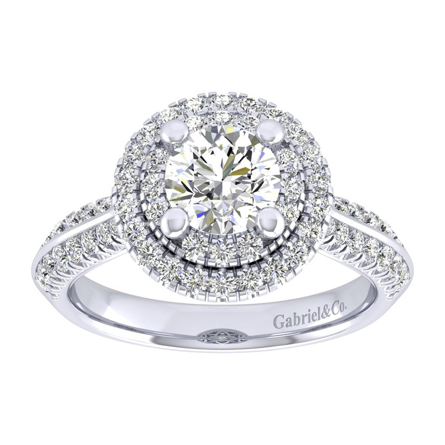Gabriel 14 Karat Perfect Match Engagement Ring ER002B4AIW44JJ Alternative View 4