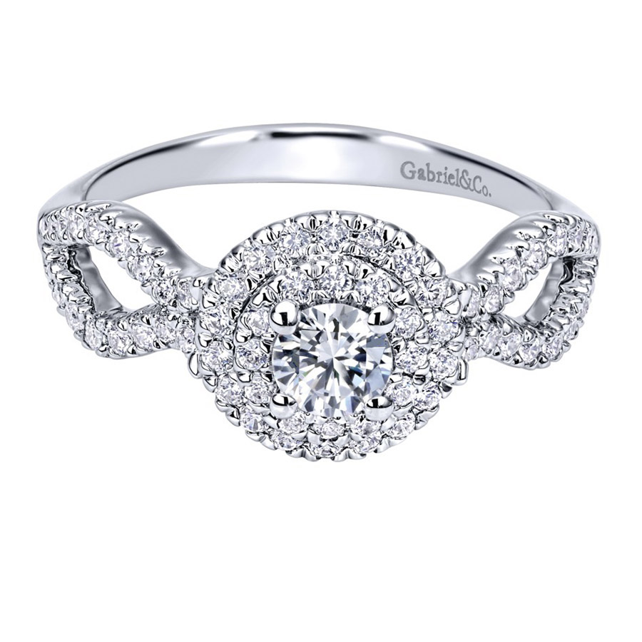 Gabriel 14 Karat Contemporary Engagement Ring ER911598R1W44JJ