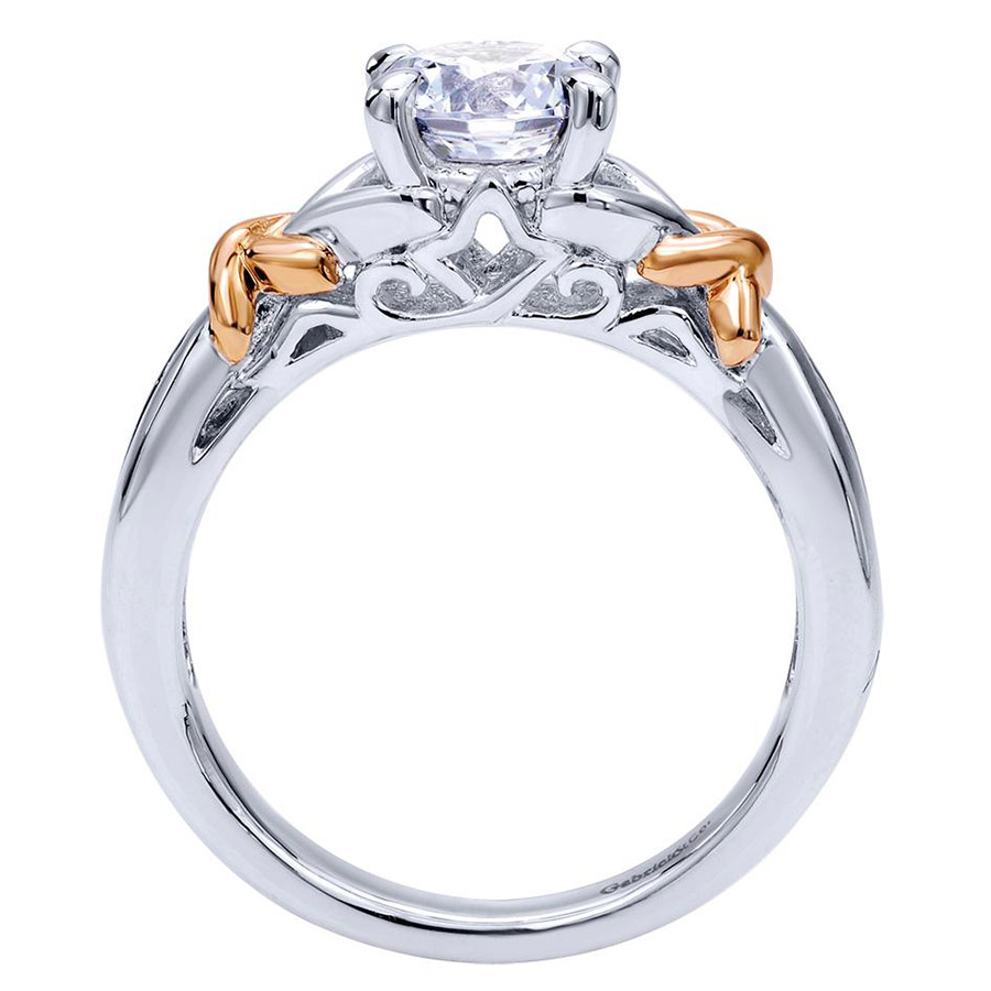 Gabriel 14 Karat Contemporary Engagement Ring ER10456T44JJ Alternative View 1