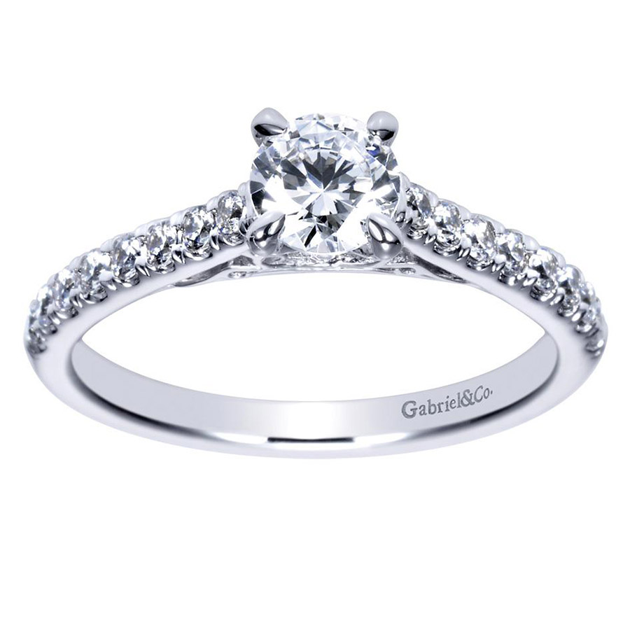 Gabriel 14 Karat Contemporary Engagement Ring ER98539W44JJ Alternative View 4
