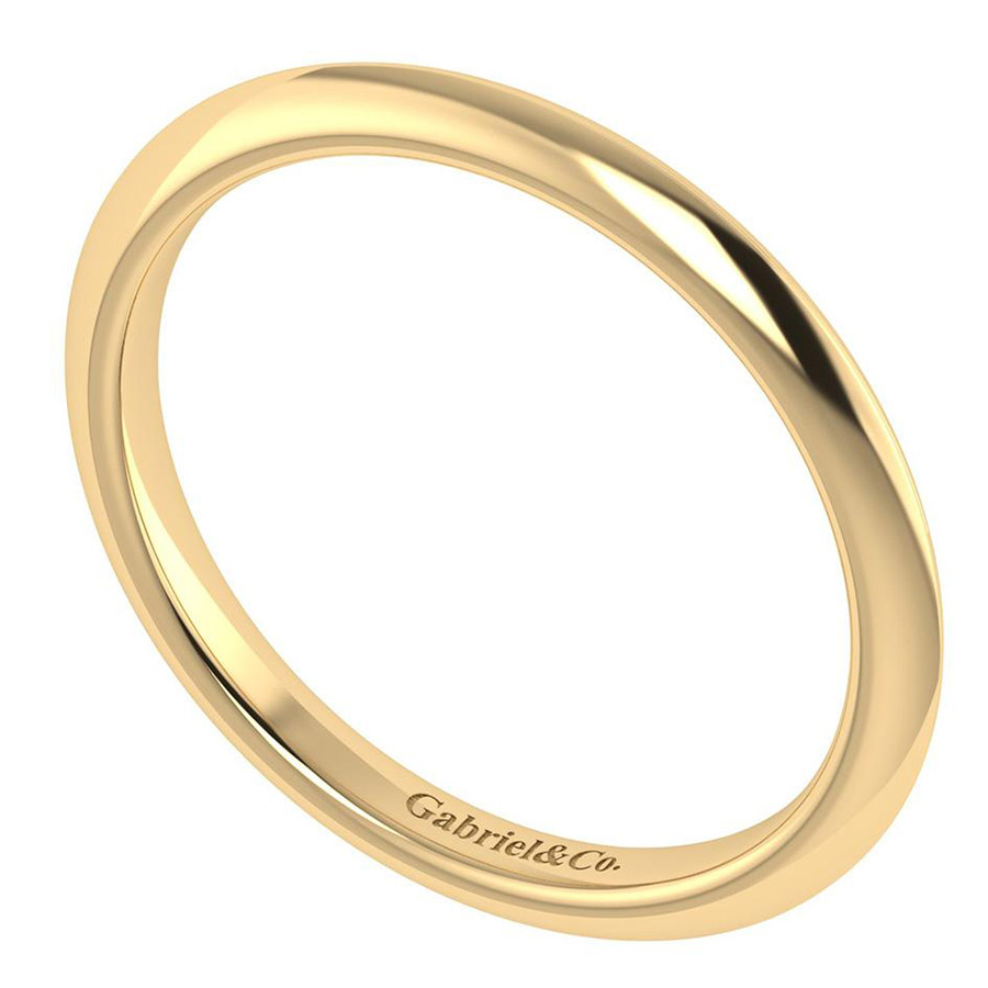 Gabriel 14 Karat Contemporary Wedding Band WB7737Y4JJJ Alternative View 2