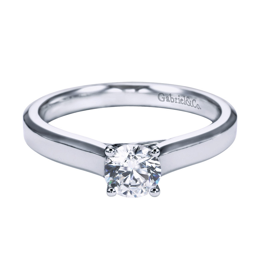 Gabriel Platinum Contemporary Engagement Ring ER6579PTJJJ