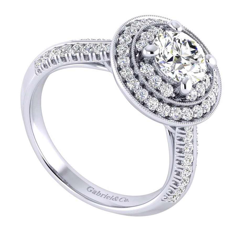 Gabriel 14 Karat Perfect Match Engagement Ring ER002B4AHW44JJ Alternative View 2