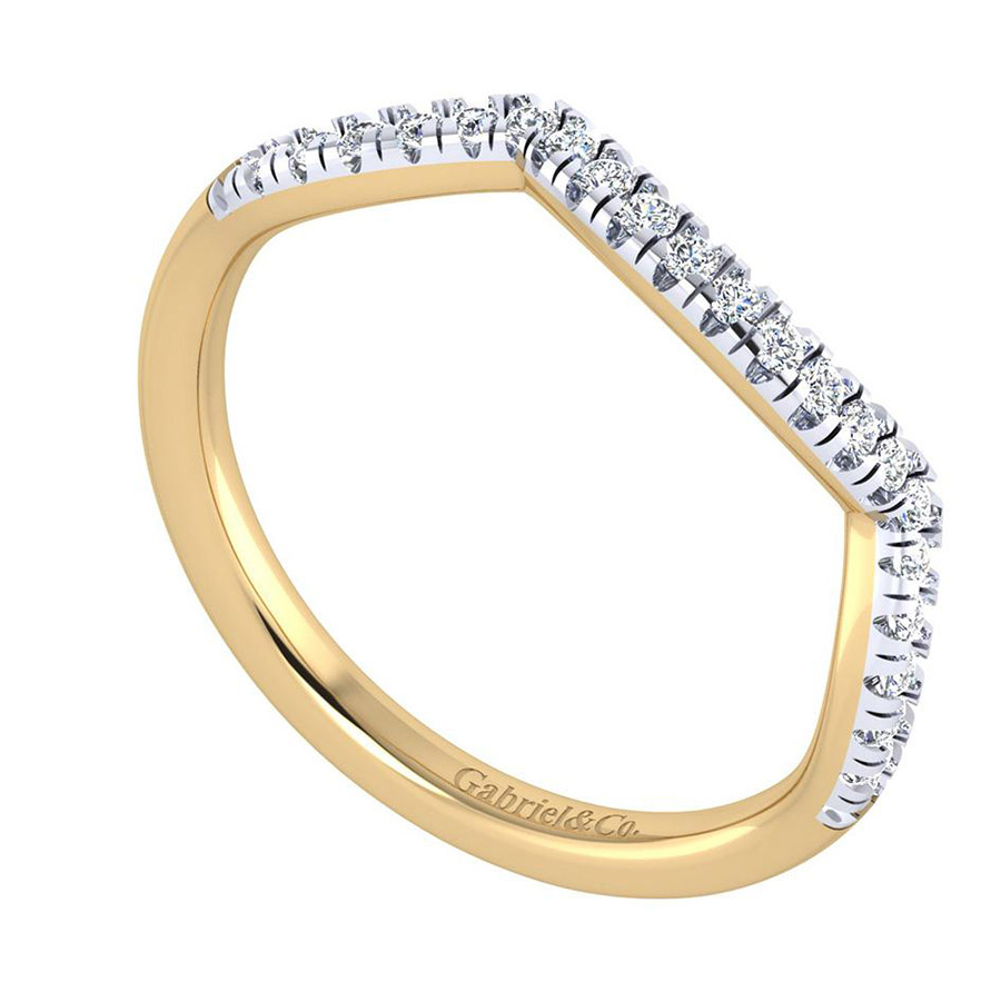 Gabriel 14 Karat Contemporary Wedding Band WB7517Y44JJ Alternative View 2