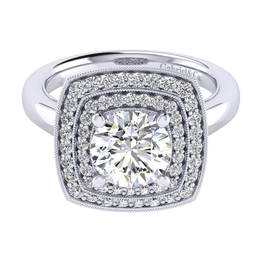 Gabriel 14 Karat Perfect Match Engagement Ring ER009C8AGW44JJ