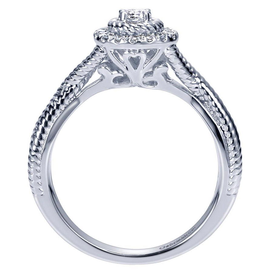 Gabriel 14 Karat Contemporary Engagement Ring ER98441W44JJ Alternative View 1