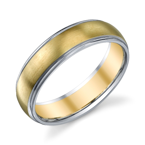 273012 christian bauer 18 karat two tone wedding ring band - Two Tone Wedding Rings