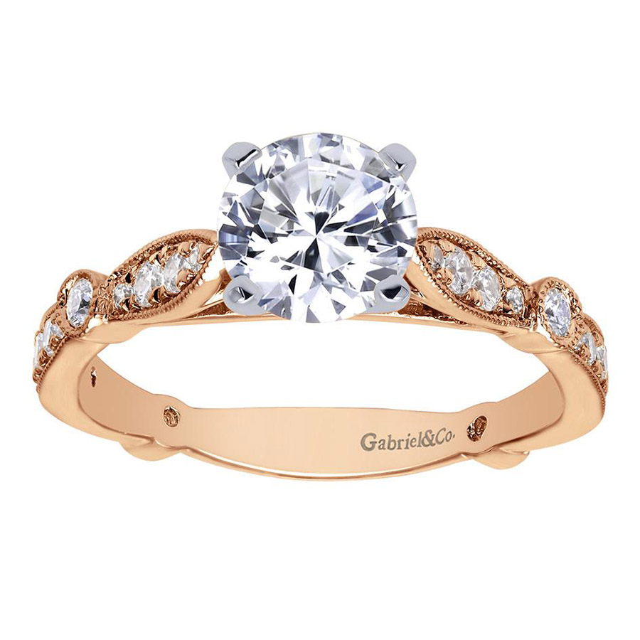 Gabriel 14 Karat Victorian Engagement Ring Er6711t44jj Alternative View  4
