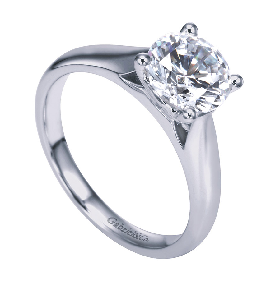 Gabriel Platinum Contemporary Engagement Ring ER6659PTJJJ Alternative View 2
