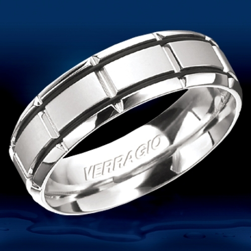Verragio Platinum In-Gauge Wedding Band RU-7005 Alternative View 1