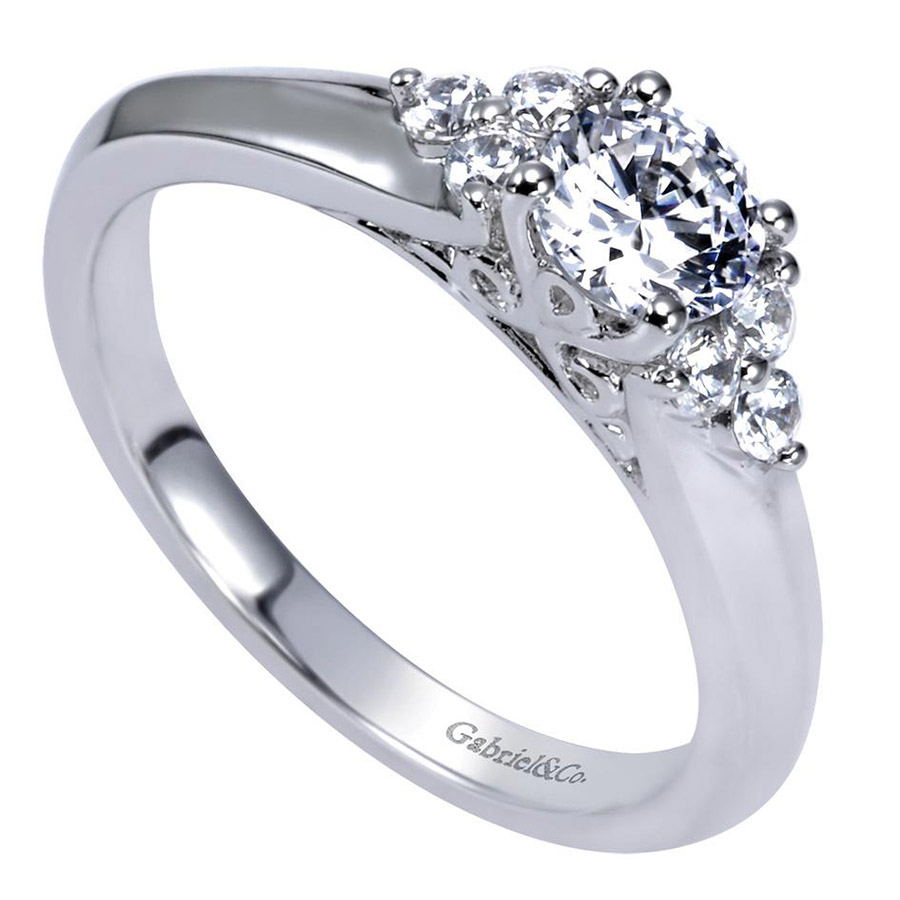 Gabriel 14 Karat Contemporary Engagement Ring ER98543W44JJ Alternative View 2