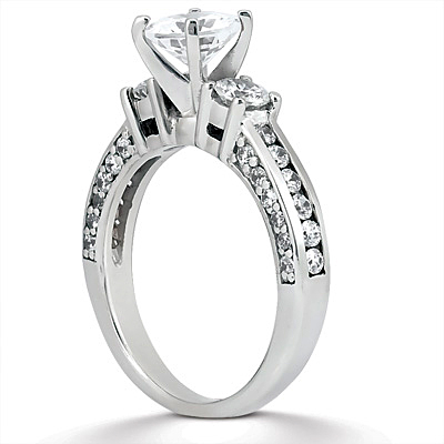 Taryn Collection Platinum Diamond Engagement Ring TQD A-1901 Alternative View 1
