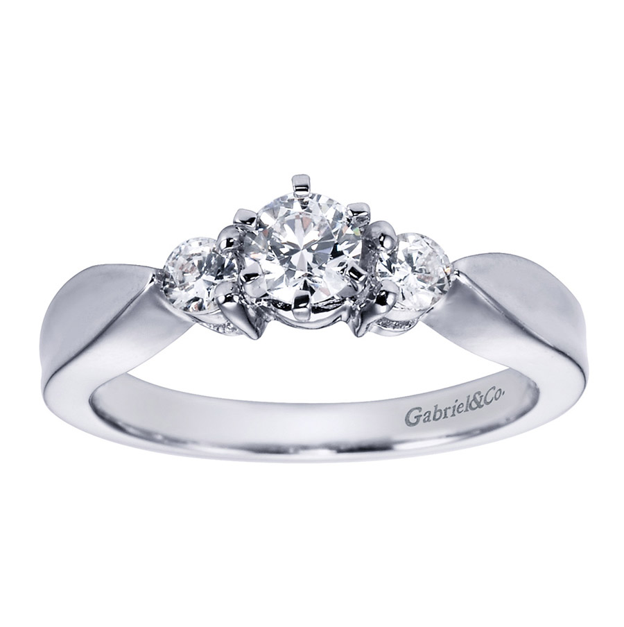 Gabriel 14 Karat Contemporary Engagement Ring ER1705PT3JJ Alternative View 4