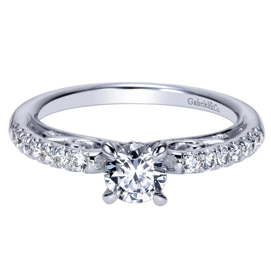 Gabriel 14 Karat Contemporary Engagement Ring ER98596W44JJ