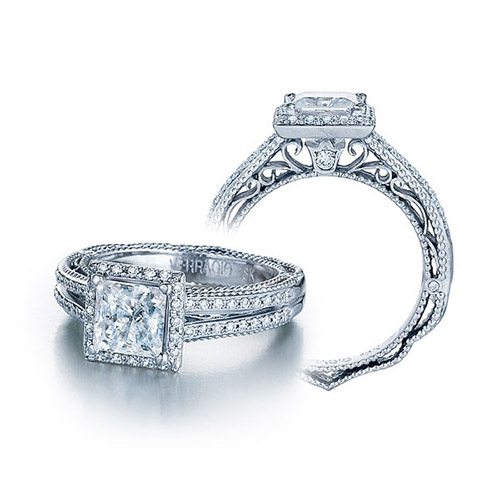 Verragio Venetian-5007P Platinum Engagement Ring