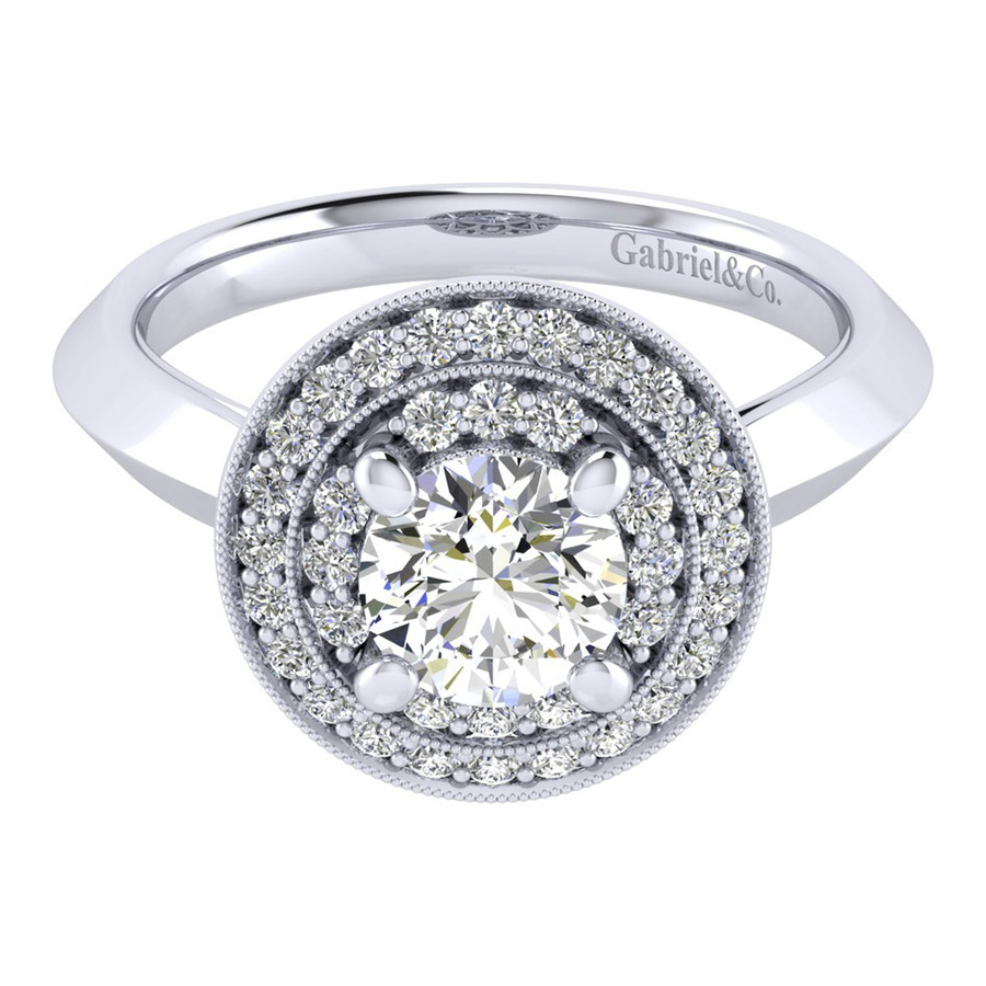 Gabriel 14 Karat Perfect Match Engagement Ring ER001B4AHW44JJ