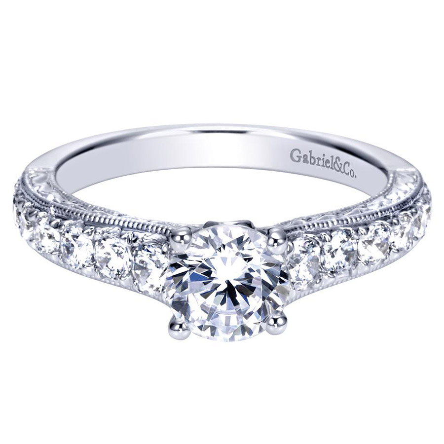 Gabriel 14 Karat Contemporary Engagement Ring ER98717W44JJ